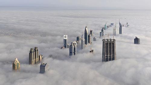 Небоскребы в облаках